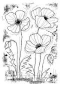 Woodware - Stitched Poppies - Clear Magic Single Stamp - FRS690